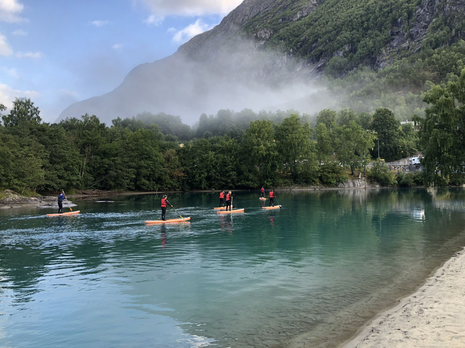 Paddleboard on the Istra River - Åndalsnes