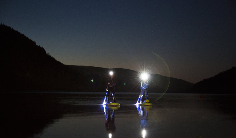Guided Night Paddleboarding North Wales
